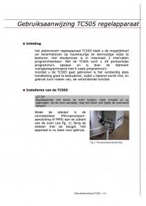 Gebruiksaanwijzing tc 505 regelapperaat
