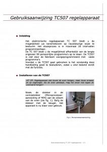 Gebruiksaanwijzing tc 507 regelapperaat