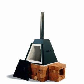 Roderveld piramide houtoven 135 liter